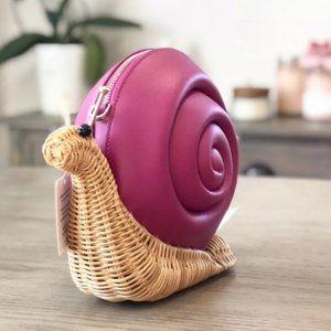 Kate Spade Snail Pink/Multi Wicker CrossBody Bag